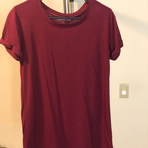 Maroon Fitted T-shirt